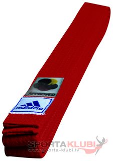 Belt Elit with WKF logo 45 mm Red (ADIB240D240-R)