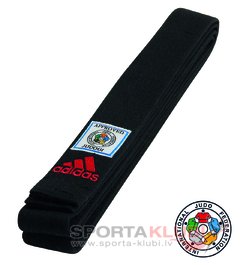 Elite belt IJF black (ADIB240.IJF)
