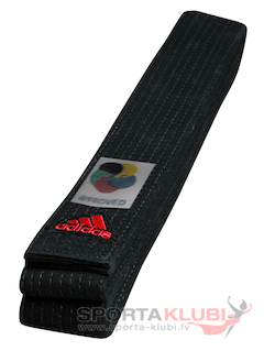 Belt Elit with WKF logo 45 mm Black (ADIB240D240-B)