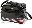 Soma Carry Bag -Shiny PU with Boxing Club Printing (ADIACC110-BOX/BLACK)