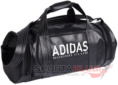 Soma Sports Bag PU Round Shape Black with Boxing Club Printing (ADIACC103/BOX)
