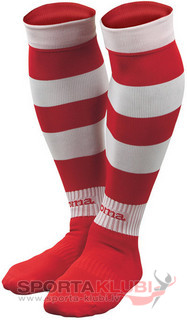 ZEBRA FOOTBALL SOCKS (PACK 5) RED-WHITE (ZEBRA 103)