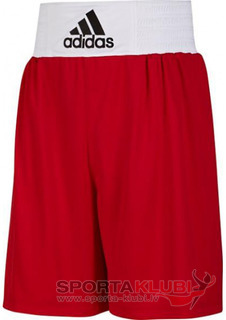 Boxing shorts Base Punch ShoM Red/white (V14110)