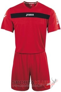 SET ACADEMY ROJO-NGR JERSEY M/C+SHORT (KIT1.981.07)
