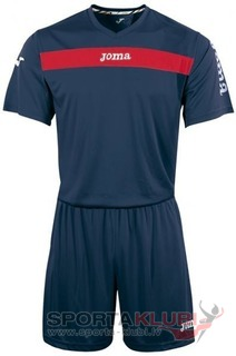 ACADEMY S/S SET (SHIRT+SHORT) NAVY-RED (KIT1.981.09)
