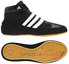 Wrestling shoes hvc k strap BLACK1/RUNWHT/GUM9 (Q33838)