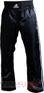 "Pants Kick Boxing Side stripes ""Wako Model"" BLACK/WHITE STRIPE (ADIPFC01)"