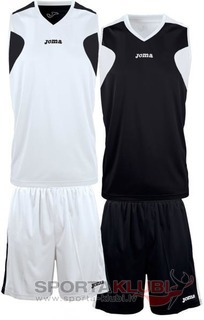 SET BASKET REVERSIBLE BCO-NGR JERSEY+SHORT (1184.001)