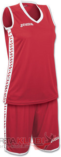 SET PIVOT WOMAN ROJO JERSEY+SHORTS (1227W001)