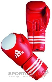 Ultima Kick Wako Leather Glove, red with white target (ADIBC21-R/W)
