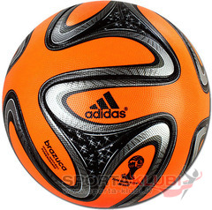 Football BRAZUCA WINTER WARNIN/BLACK/METSIL/ (G73648)
