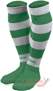 ZEBRA FOOTBALL SOCKS (PACK 5) GREEN-WHITE (ZEBRA 189)