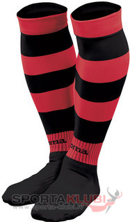 ZEBRA FOOTBALL SOCKS (PACK 5) BLACK-RED (ZEBRA 400)