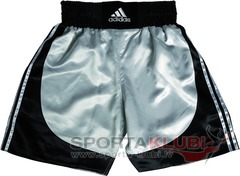 "Boxing Shorts ""MULTI"" Boxing Short ""140 grms"" BLACK/SILVER (ADISMB03)"