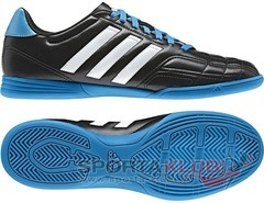 Football shoes Goletto IV IN BLACK1/RUNWHT/SOLBLU (F33036)